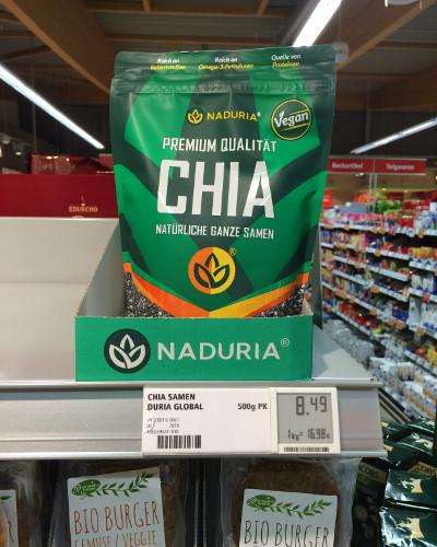 REWE: Naduria Chia Vegan, 500 Gramm, 8,49 €